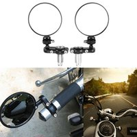 Specchi da moto Universale Moto Moto Modificato Modificato retrò Pieghevole Specchio Nero Billet Billette 22mm Maniglia barra retrovisore Alta qualità
