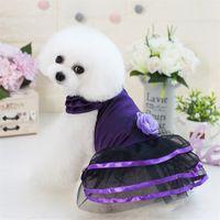 F35B PET princesa vestidos gato dogapparel verano vestido lindo perros dulce cachorro boda faldas 426 v2