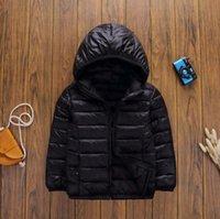 الأطفال أسفل معطف مصمم الاطفال ملابس الخريف / الشتاء الفتيان الفتيات خفيفة موصل الأبد الملابس الطباعة الكلاسيكية