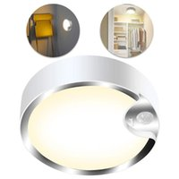 Ceiling Lights LED Motion Sensor Light Battery Powered Cool White Night Lamps With For Stairway Hallway Laundry Basement