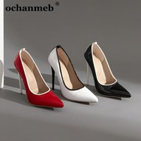 Dress Shoes Ochanmeb Largest Size 46 47 Stiletto Heel Sexy Pumps Women Shiny Patent Leather Pointed Toe Multi-color High Heeled
