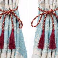 Paio di accessori in camera Tazzina Appeso tende auricolari Piccola Corda Legata Handmade Back Home Tessile Decorazione Altri arredi