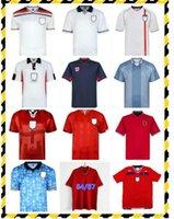 Retro Fútbol Jersey 1994 Clásico Vintage Owen Robson Gascoigne Shearer 90 92 94 Inicio Away Third White Red Blue 1990 1992 Camisa de Fútbol