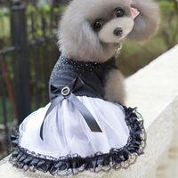 Dog Apparel Small Puppy Pet Princess Tutu Dress Lace Bowknot Party Costume Clothes