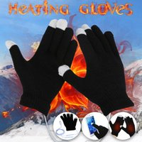 Hats, Scarves & Gloves Sets 25# Women's Winter Touch Screen Thicken Warm Knitted Stretch Imitation Wool Full Finger Outdoor Skiing