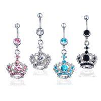D0148-1 (4 couleurs) Couleurs Style Ventre Bague Crown Style Piercing Bijoux Anneaux Piercing Bijoux Bijoux Bijoux Dangle Accessoires Mode Charm 602 Z