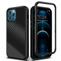 Carbon Fiber Cases For Iphone 13 13Pro Max 12 11 XR Three Layer Heavy Duty Shockproof Protection Cover