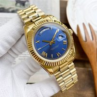 Mens Watch Automatic Mechanical 41mm Fashion Watches Ladies Wristwatches Full Stainless Steel Gliding Casp Golden Color montre de Luxe Perfe