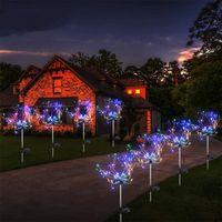 الألعاب النارية الشمسية أضواء 120 led في الهواء الطلق حديقة ديكورات سلسلة مصباح الإضاءة للماء الإضاءة العشب عيد الميلاد الديكور الخفيفة WLL852