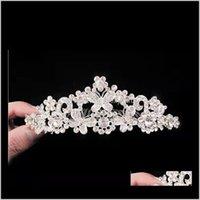 Barocco Bridal Jewelry Head Head Diamond Accessori per capelli Collana Crown Collana Tre pezzi Set IUEFG O6BPD