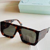 Designer-Sonnenbrillen für Männer OW40018U O FF der neueste Trend-Mode-All-Match-Stil Harte Quadrat-Werkzeug-Gefühl Super dicke Blatt-Sonnenbrille 55-19-145