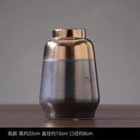 Çin Vintage Metal Vazo Yaratıcı Bitki Antika Ev Dekor Ofis Aksesuarları Süsler Jarrones Çiçek EH50VA Vazolar