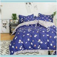 Bedding Supplies Textiles Home & Gardenbedding Sets Little Daisies Duvet Er Set Cotton Double-Side Print Quilt Bed Bedclothes Bedsheet With