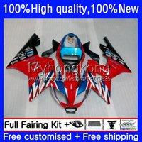 Fairings Kit för Triumph Daytona600 Daytona 650 600 cc 600cc 650cc 02-05 Body 10no.7 Daytona650 02 03 04 05 Lager Red Blue Daytona 600 2002 2003 2004 2005 ABS Bodywork