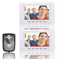 """Görüntülü Kapı Telefonu Kapı Zili İnterkom Sistemi IR Kamera Gece Görüş 7 """"TFT LCD Monitör Videoparor Toptan Telefonları"""
