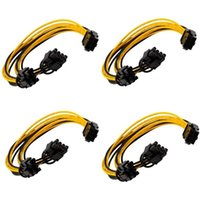 Computer Cables & Connectors Pin PCIe To 2 (6+2) Motherboard Graphics Video Card PCI-e Splitter Hub Power Extension Cable(4 Pack 20cm)