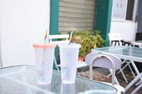 Starbucks اللون تغيير الكؤوس تغيير في أكواب النثار الباردة 24 أوقية 710ml و 16 أوقية 473ML البلاستيك بهلوان قابلة لإعادة الاستخدام شرب شرب مسطح أسفل عمود شكل غطاء القش