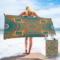 منشفة سريعة جافة شاطئ ملون ماندالا ستوكات حمام وسادة السباحة شخصية الرمال الحرة