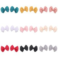 Hair Accessories Oaoleer 2PCS Set 4.5Inch Bows Girls Clips 2021 Cute Spring Kids Hairpins For Baby Colorful