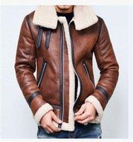 Novo inverno quente lambswool jaqueta quente jaqueta dos homens jaqueta de couro velo grosso mais tamanho roupas casacos de manga comprida Outwears roupas