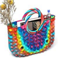 Women Multicolor Shopper Bag Large Capacity Dead Bag Funny Pop Luxury Designer Handbag New Fashion Shoulder Bag Z206