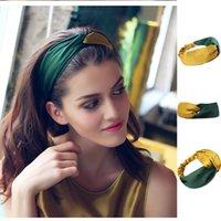 Moda Mulheres Meninas Verão Amarelo Verde Cabelo Bandas Headband Cross Turbante Bandagem Bandanas Hairband Acessórios 2021 Bun Maker