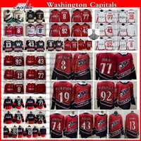 2021 Reverse Retro Washington Capital 8 Alex Ovechkin TJ Oshie Hockey Jersey Evgeny Kuznetsov Backstrom Tom Wilson John Carlson Jakub Vrana 챔피언 셔츠
