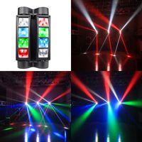 Mini Dj Led Moving Head Light Disco 8X 3W RGBW Spider Lite DMX 512 Controller Fog Machine Stage Lights Night Club KTV Bar