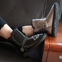 Boots Snow Women's Winter Shoes Thick Sole Plaforms Ankle Boot Round Toe Plush Warm Cotton Shoe Side Zip Silver Black