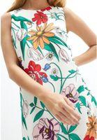 Flower Print Women Sheath Dress Half sleeve Casual Mini Dresses