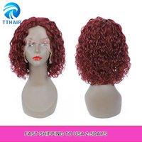 150٪ مجعد الشعر الإنسان الرباط الباروكات للنساء السود موجة المياه البرازيل ريمي ل جزء الطبيعي أومبير