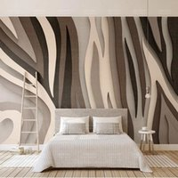 Wallpapers European Retro Striped Cloth 3D Self Adhesive Wallpaper Gray Lines Po Murals Living Room Bedroom Background Wall Painting