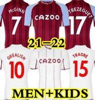 21 22 Aston Soccer Jerseys Villa Grealish Buendía Traore Barkley 2021 2022 Watkins Wesley el Ghazi M.Trezeguet McGinn Football Shirt Hommes + Kits enfants