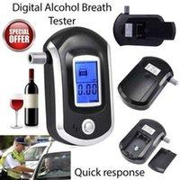 2021 Ny professionell digital andedräkt alkohol tester Alyzer AT6000 detektorbil