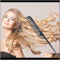 Fırçalar Araçları Ürünler Bırak Teslimat 2021 1 adet Anti-Statik Kuaförlük Combs De Düz Saç Fırçası Tarak Aracı Bakımı Berber Styling Saç Kesme