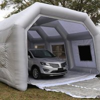카본 필터와 사용자 정의 휴대용 풍선 스프레이 페인트 부스 자동차 트럭 텐트 Tan 오븐 룸 차고 상업적 사용