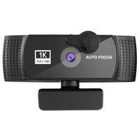 DERE K10 줌 웹캠, 마이크로폰, 1080P HD 스트리밍 USB [플러그 앤 플레이] [PC 화상 회의 / 발신 / 게임, 노트북 / 데스크탑 MAC 용 [30FPS]