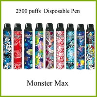 Monster Max 2500 puffs electronic cigarette disposable pen with fashion design and big capacity pod kit