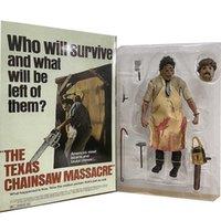 Neca Leatherface Figure Texas Kettensäge Massaker Action Figure Terror Movie 40. Jubiläumsspielzeug Puppe Weihnachtsgeschenk Q0722