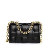 Luxo Bolsa Cadeia Cassete Cassete Permitido Mulheres Crossbody Bag Bolsa Plana de Crochet Correntes de Couro Mensageiro Sacos Quilted Senhoras Moda Embreagem Totes Totes Bolsas