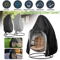 Hanging Egg Chair Cover Outdoor Swing Waterproof Anti-dust With Zipper 210D Oxford Fabric Garden Protector Shade
