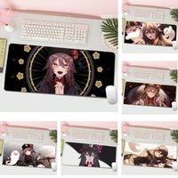 Mouse Pads & Wrist Rests Hu Tao Genshin Impact Computer Laptop Anime Mat L Large Gamer Keyboard PC Desk Tablet Gaming Pad