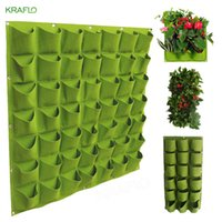 Potenciômetros Eco-Friendly Potes Não-Tecidos Multi-Porto Vertical Plantando Saco de Plantio de Planta Greening Parede Tridimensional Grow Sacos