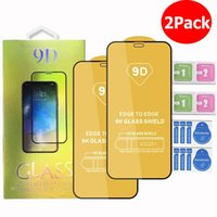 9D Tempered Glass Phone Screen Protector 2pcs in 1 package For iPhone 12 11 Pro Max XR X XS Samsung A71 A51 5G A01 A11 A21 A31 A41