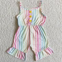Girls Jumpsuit Kids Designer Clothes Girl Romper Toddler Baby Stripes Suspender Infant Set Clothing Sets