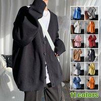 Bahar Hırka Kazak erkek Moda Rahat V Yaka Örme Kazak Ceket Erkekler Streetwear Kore Gevşek Ceket Erkek Giysileri