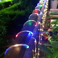 Solar Lamps LED Garden Yard Lamp String Lights 7M 12M 22M 32M Fairy Rope Tube Lighting Holiday Christmas Party Decoration