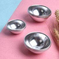 Baking Moulds 1pc Half Round 3D Molds Aluminum Sphere Bath Bomb Cake Pan Tin Pastry Ball Mold 3 Size Can Choose