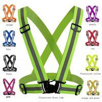 Uomini regolabili Wome maglia riflettente nastro di sicurezza di sicurezza ad alta visibilità gilet gilet strisce per escursioni in esecuzione bicicletta a piedi 4x1.5 cm