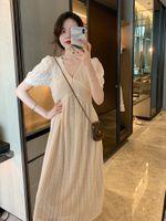 Light 2021 Summer Wedding Dress French Slim Heavy Industry Three Dimensional Crochet Champagne White Lace Fairy Long Skirt